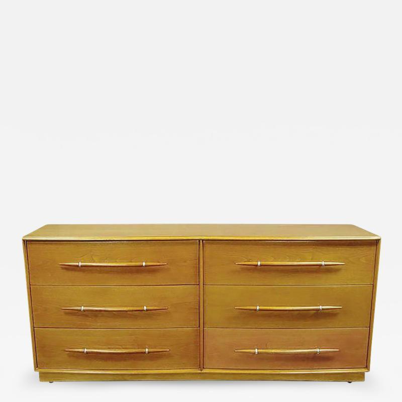 TH Robsjohn Gibbings Rare T H Robsjohn Gibbings Bleached Walnut Dresser for Widdicomb