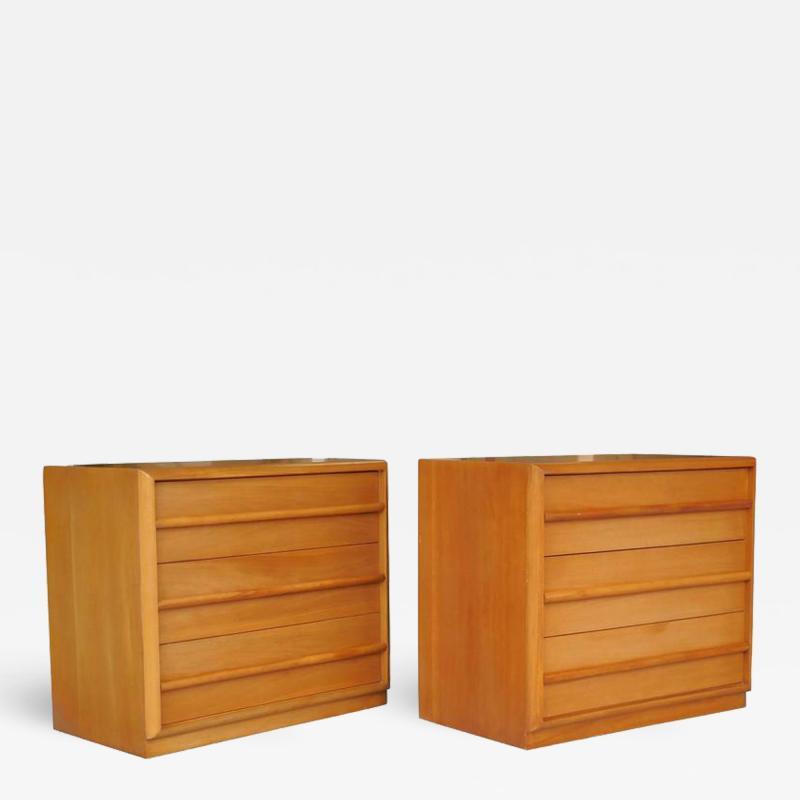 TH Robsjohn Gibbings Robsjohn Gibbings Pair of Cabinets Bedside Tables