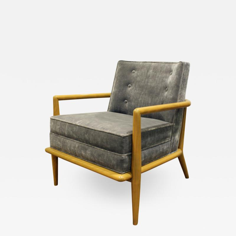 TH Robsjohn Gibbings T H Robsjohn Gibbings Elegant Lounge Chair 1950s