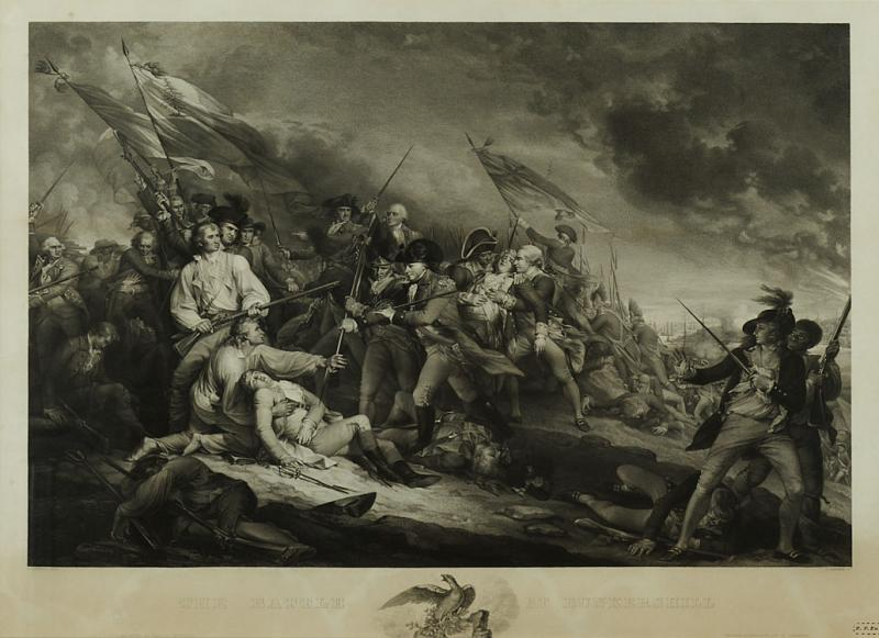 THE BATTLE AT BUNKERS HILL