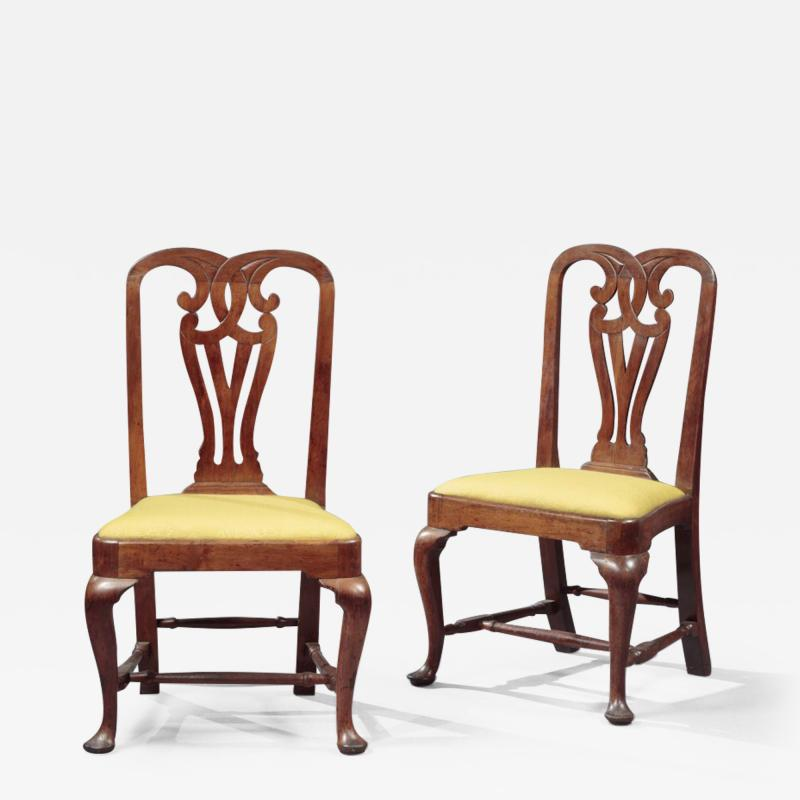 THE TILLINGHAST FAMILY PAIR OF QUEEN ANNE SIDE CHAIRS