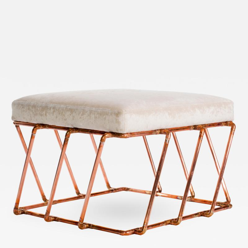TJ Volonis Aperture Ottoman in Copper by TJ Volonis