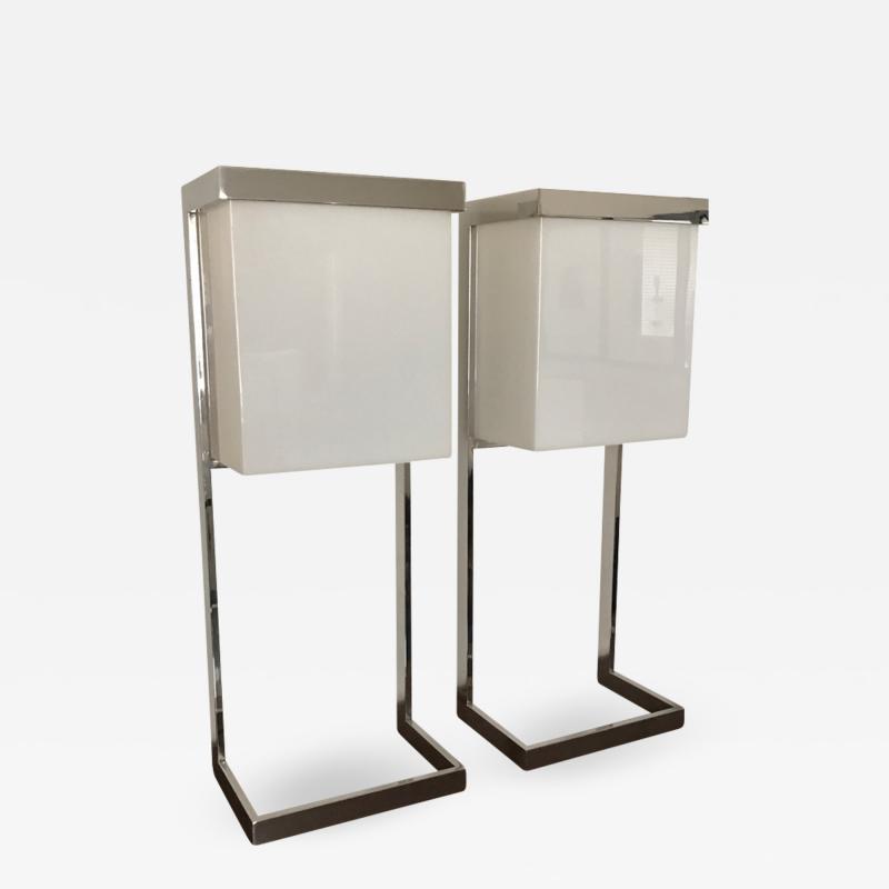 Table lamps style of Paul Mayen