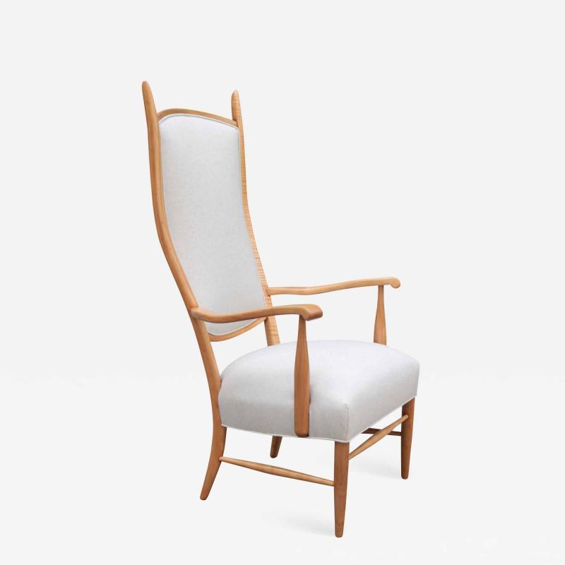Tall Back Mid Century Armchair