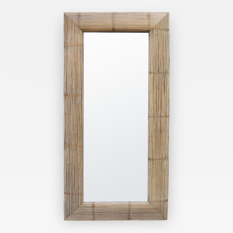 Tall Bamboo Modernist Mirror