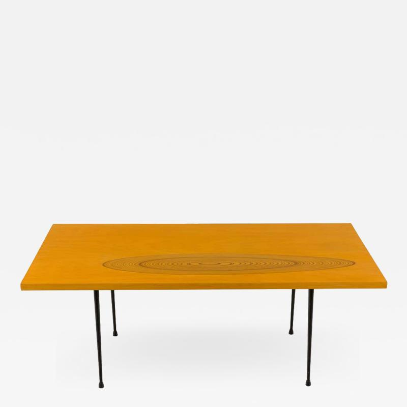 Tapio Wirkkala 9011 Birch and Inlaid Teak Coffee Table for Asko