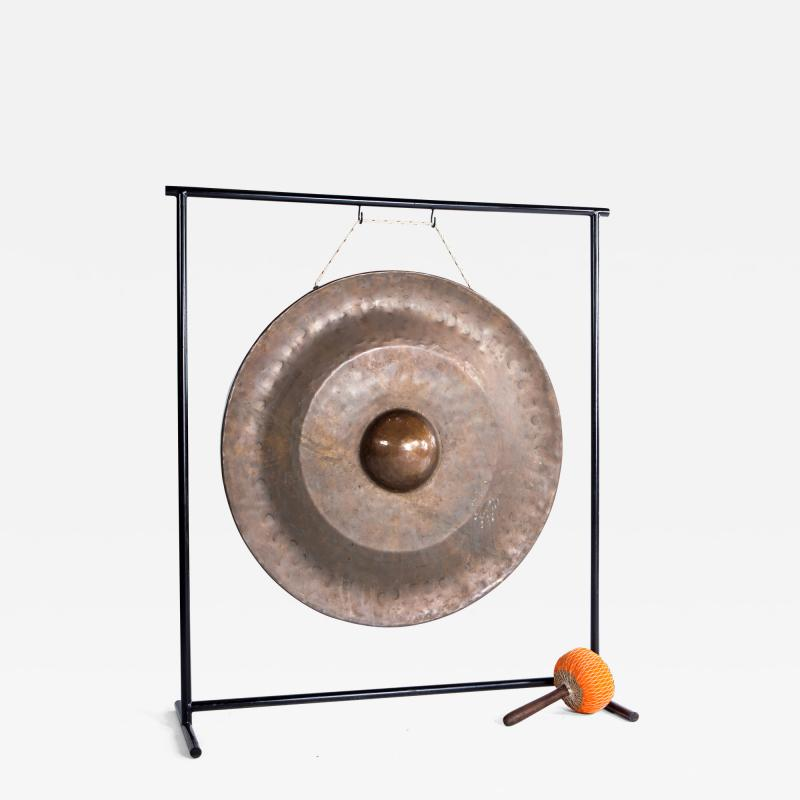 Temple Gong on Metal Stand