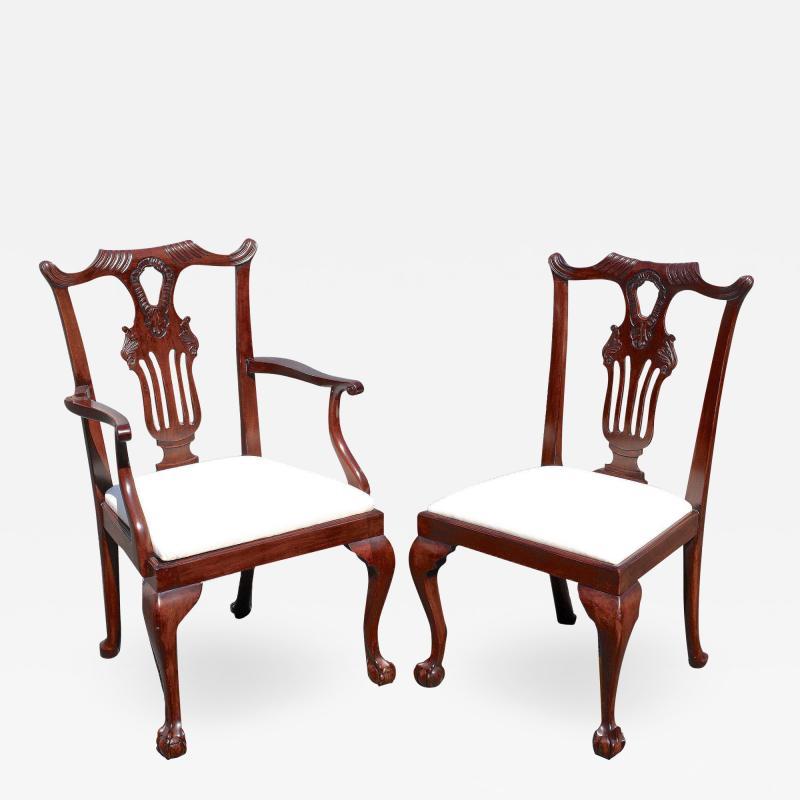 Ten American Centennial Mahogany Dining Chairs