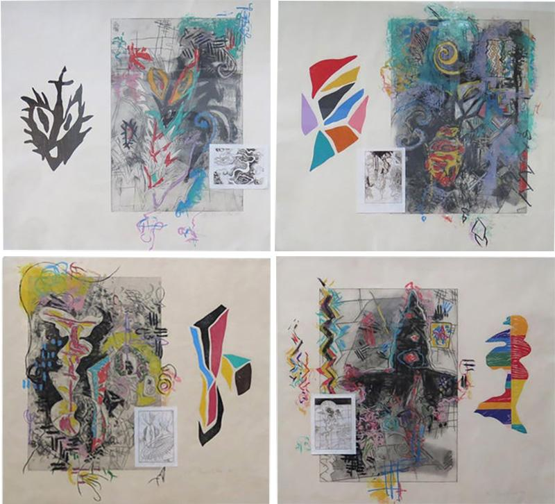 Terence La Noue Terence La Noue Mixed Media on Paper from The Ritual Series