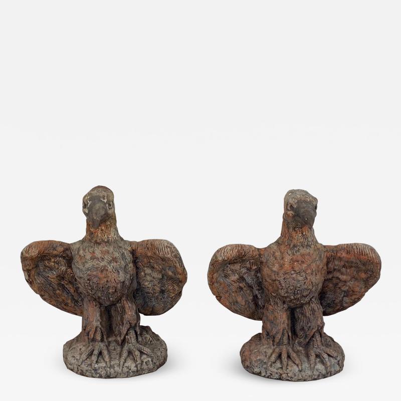 Terra Cotta Eagles England Circa 1800 A Pair