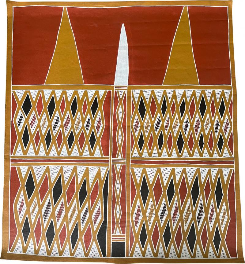 Terrence Gaypamany Gurruwiwi Aboriginal Body Painting Terrence Gurruwiwi Elcho Island Australia