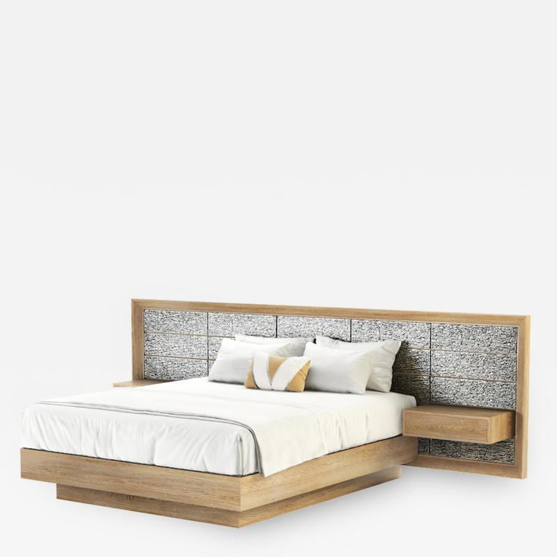 The Adriana Bed with Extended Headboard and Integrated Nightstands