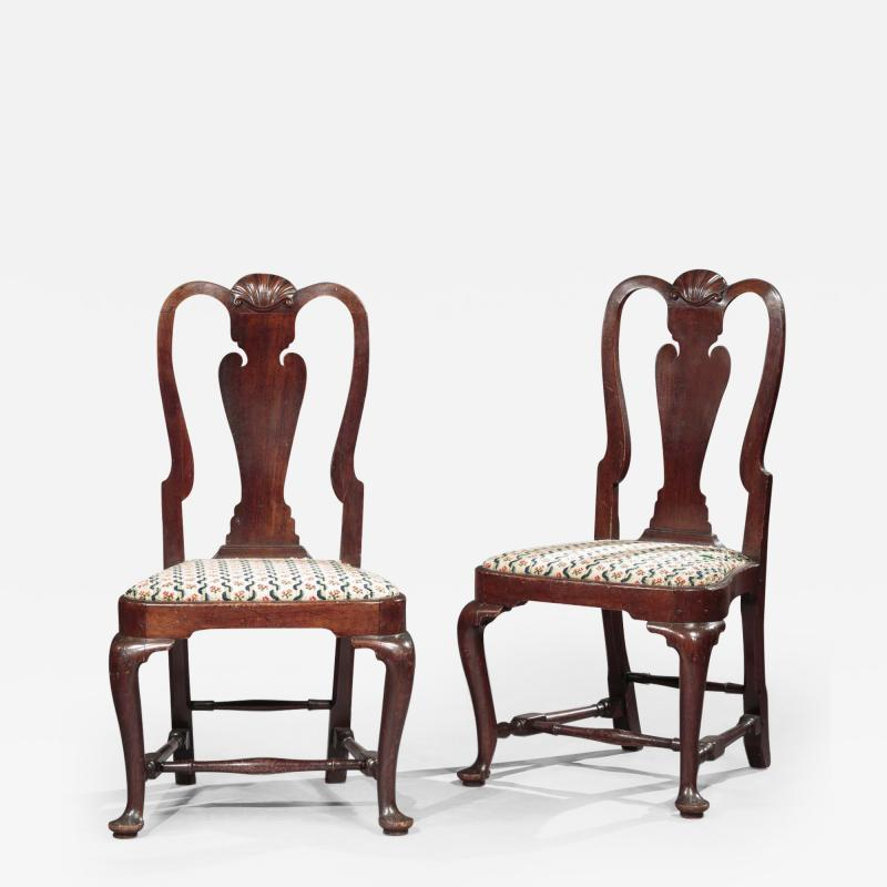 The Ebenezer Gay Pair of Queen Anne Side Chairs