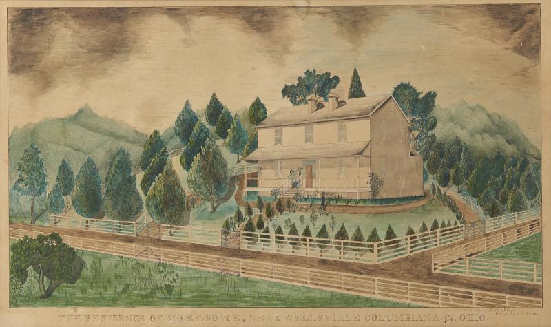 The Residence of Mrs C Boyce Near Wellsville Columbiana Co Ohio