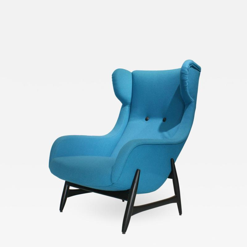 Theo Ruth Mid Century Modern Armchair from Artifort DUX 1950s