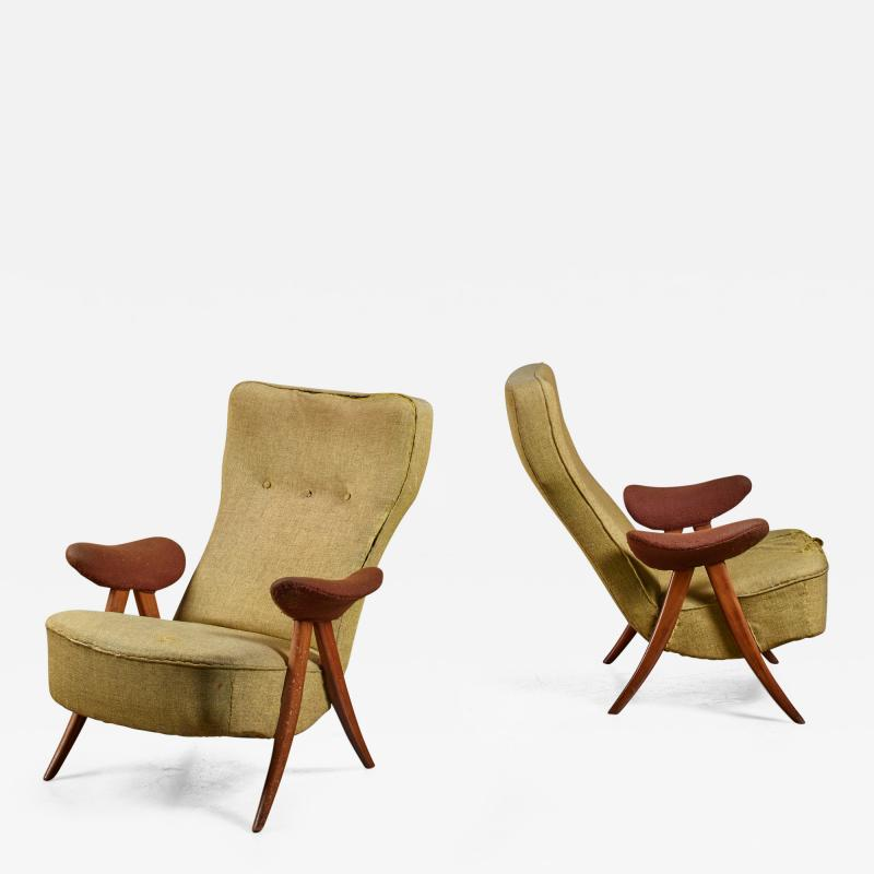 Theo Ruth Pair Theo Ruth chairs The Netherlands 1950s