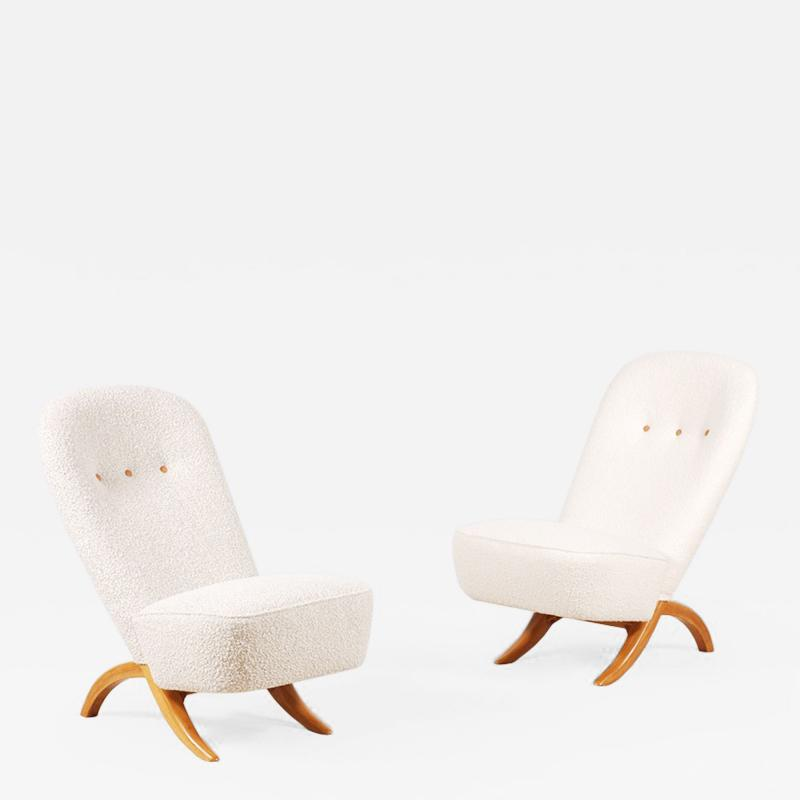 Theo Ruth Theo Ruth Pair of Congo Lounge Chairs for Artifort circa 1950