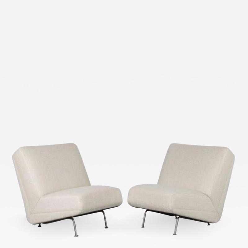 Theo Ruth Theo Ruth Pair of Lounge Chairs Sofa Elements for Artifort Netherlands 1950