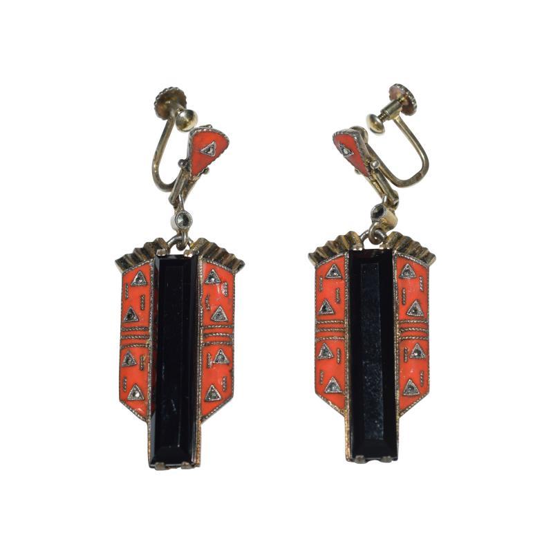Theodor Fahrner Earrings Art Deco 1925