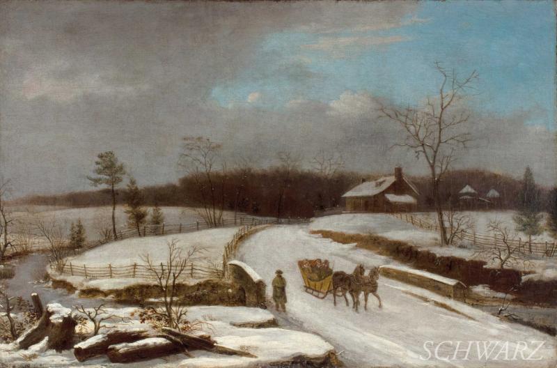 Thomas Birch Winter Sleigh Scene