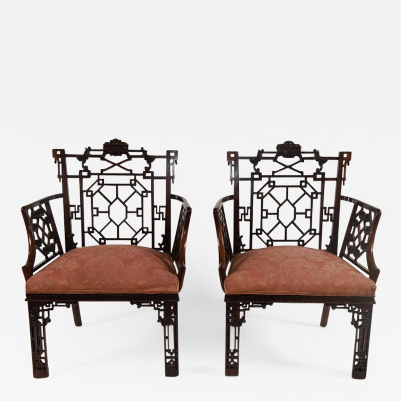 Thomas Chippendale Chinese Chippendale Armchairs Lord Leverhulme