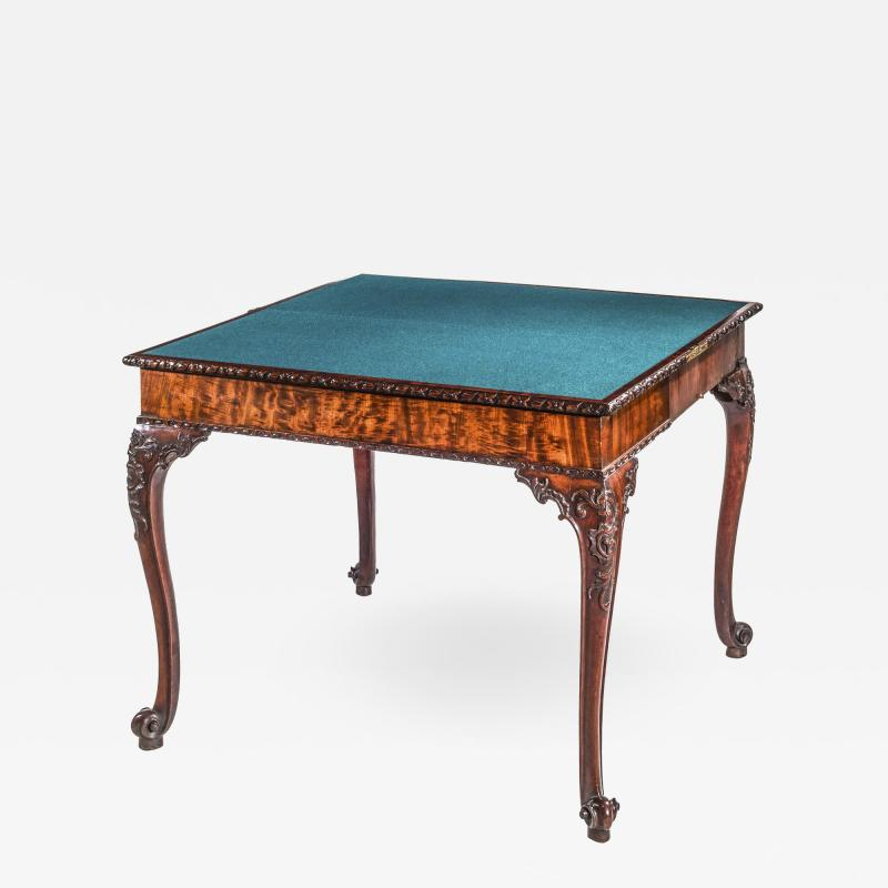 Thomas Chippendale Fine 18th Century Chippendale Mahogany Concertina Card Table