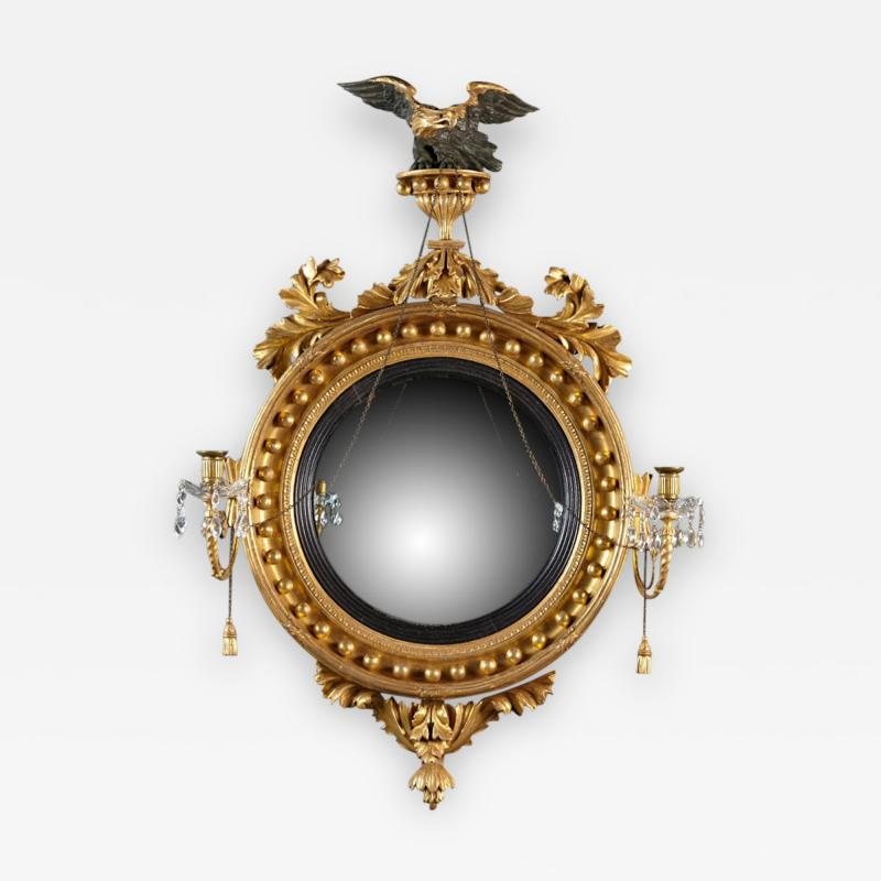 Thomas Fentham A Fine English Convex Mirror With Bentham Label