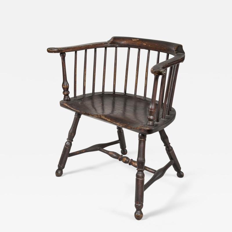 Thomas Gilpin An Early Philadelphia Low Back Windsor Armchair