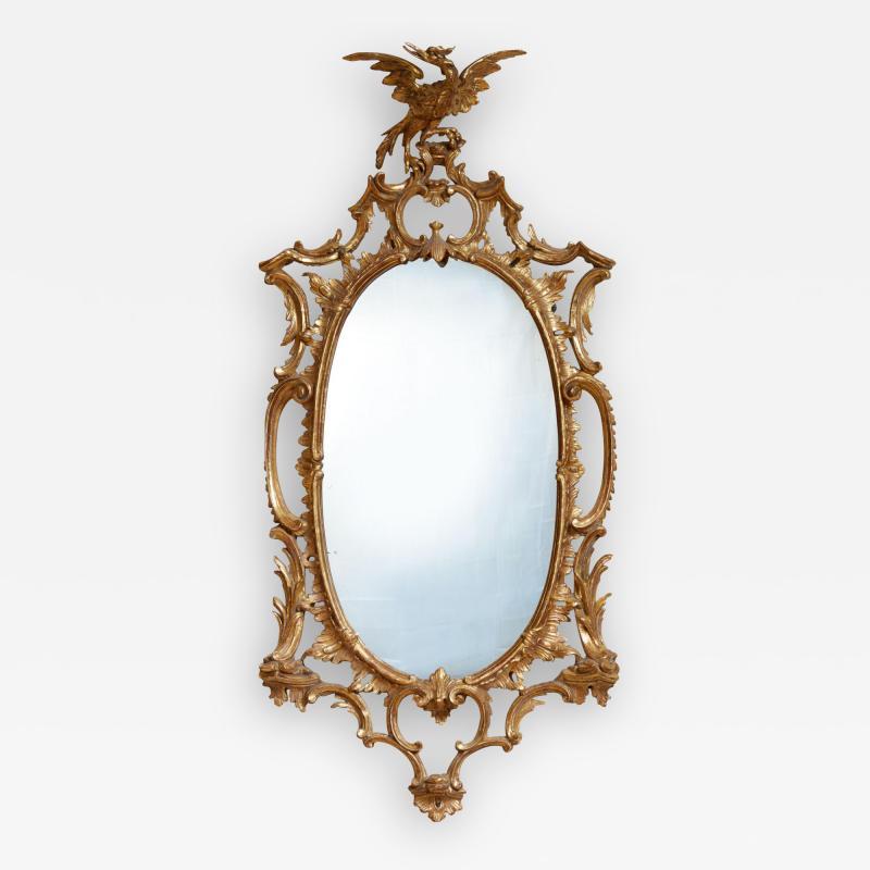 Thomas Johnson Georgian Oval Rococo Mirror
