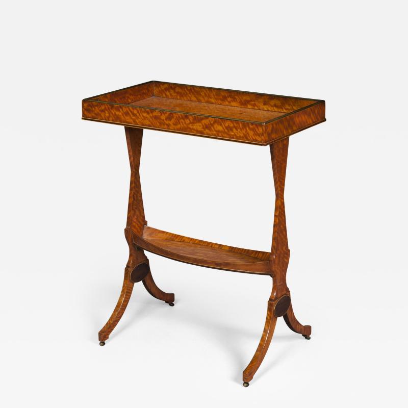 Thomas Sheraton 18th Century George 111 Period Satinwood Sidetable Tricoteuse