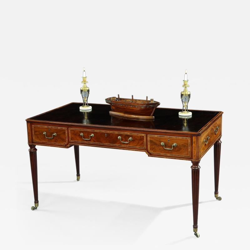 Thomas Sheraton The Shrubland Park Georgian Period Mahogany Free Standing Writing Library Table