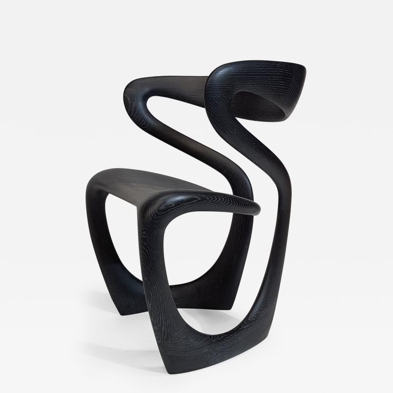 Thomas Vaughan S Chair in Ebonized Limed Oak by Object Studio
