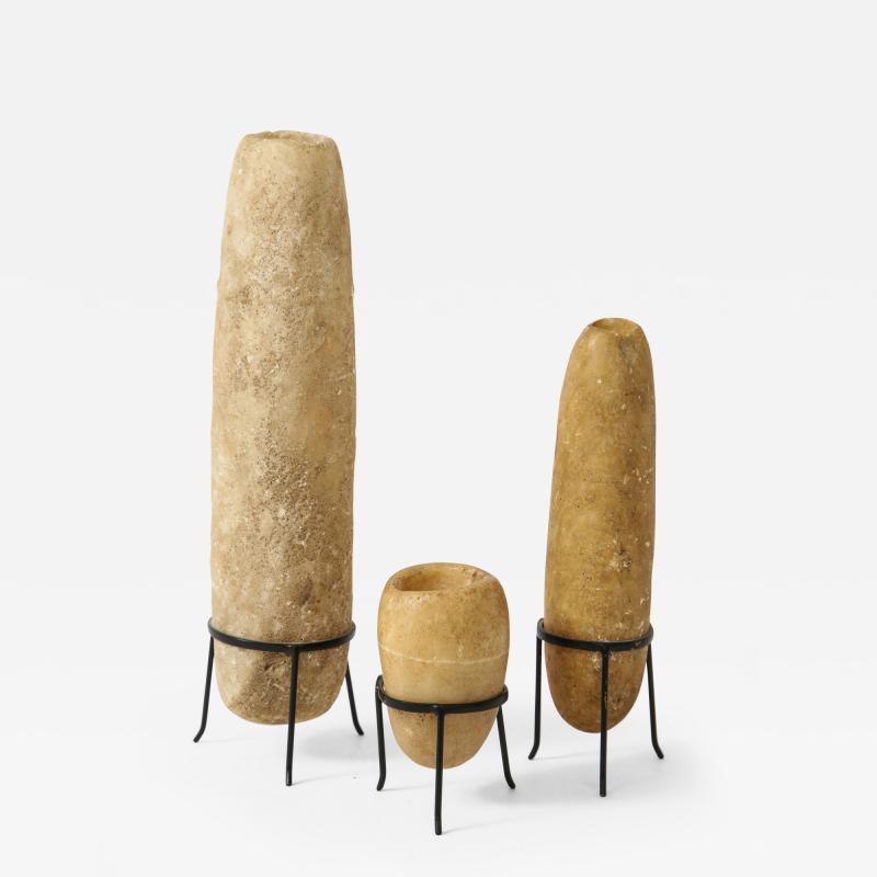 Three Egyptian Alabaster Amphores