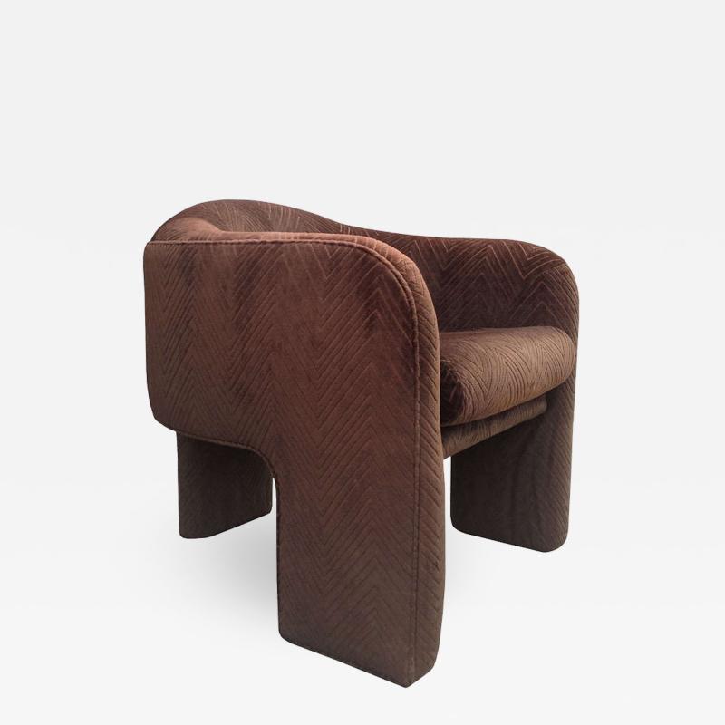 Three Legged Architectural Armchair by J Schellenberg Interiors