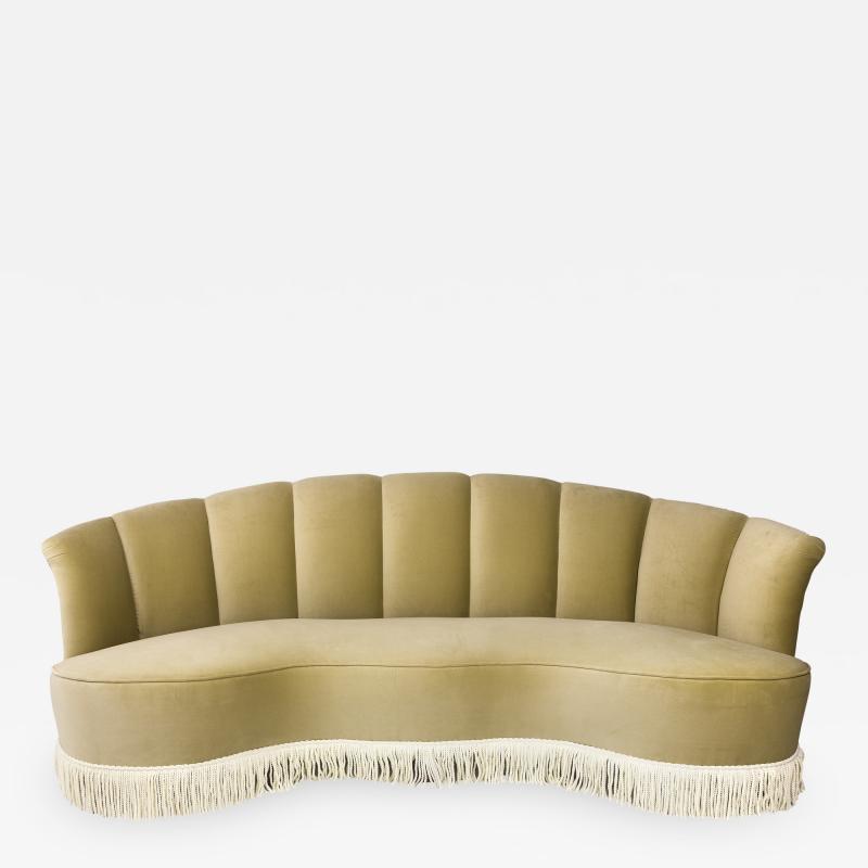 Three Seat Velvet Sofa circa 1940 Italy