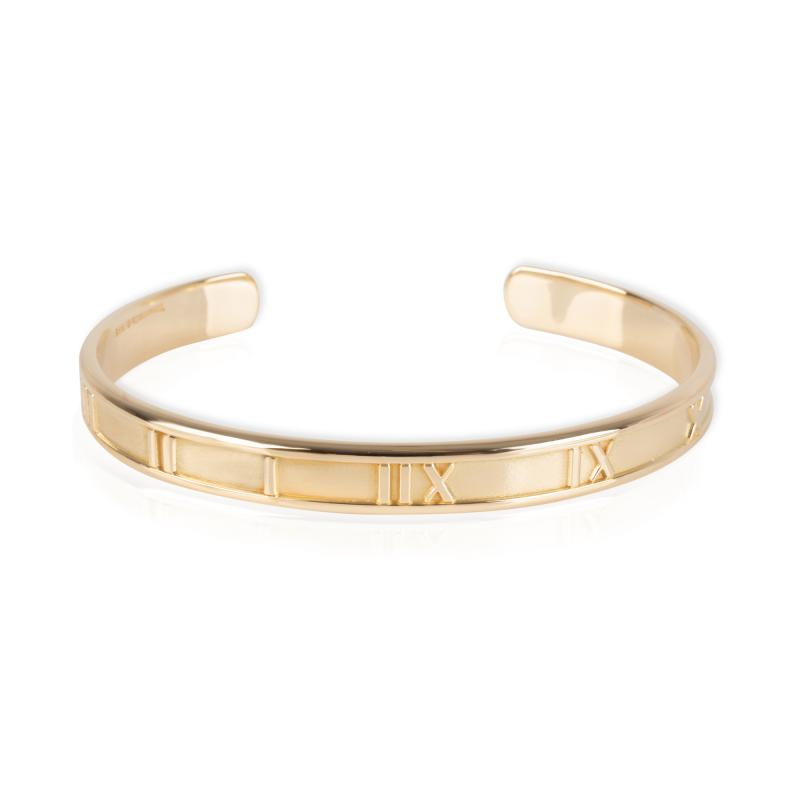 Tiffany Co Atlas Collection Cuff in 18K Yellow Gold