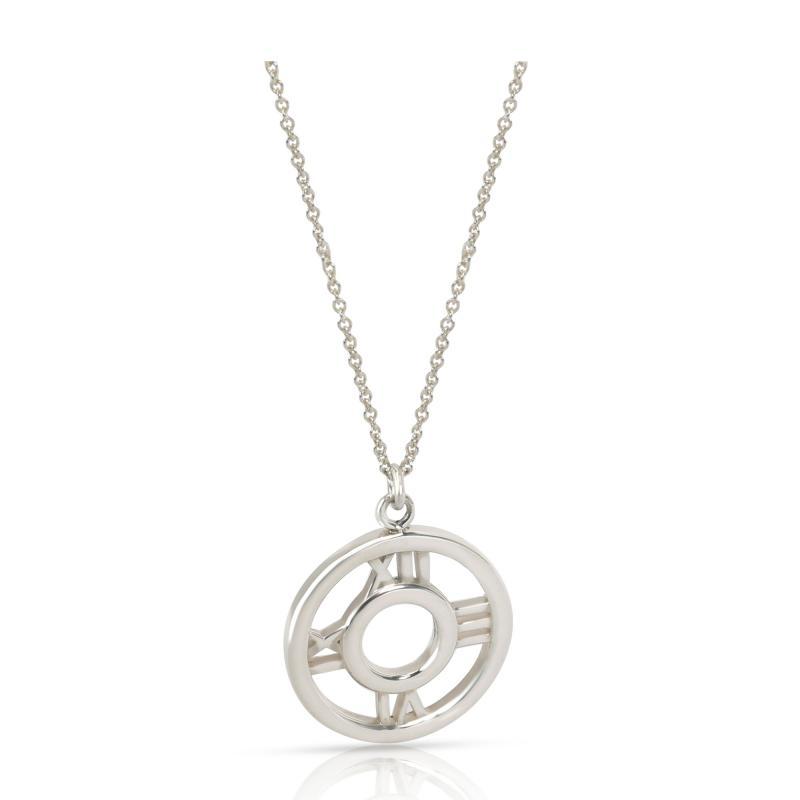 Tiffany Co Atlas Pendant in Sterling Silver