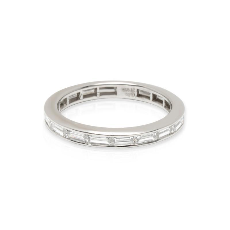 Tiffany Co Baguette Diamond Eternity Wedding Ring in Platinum 1 10 CTW