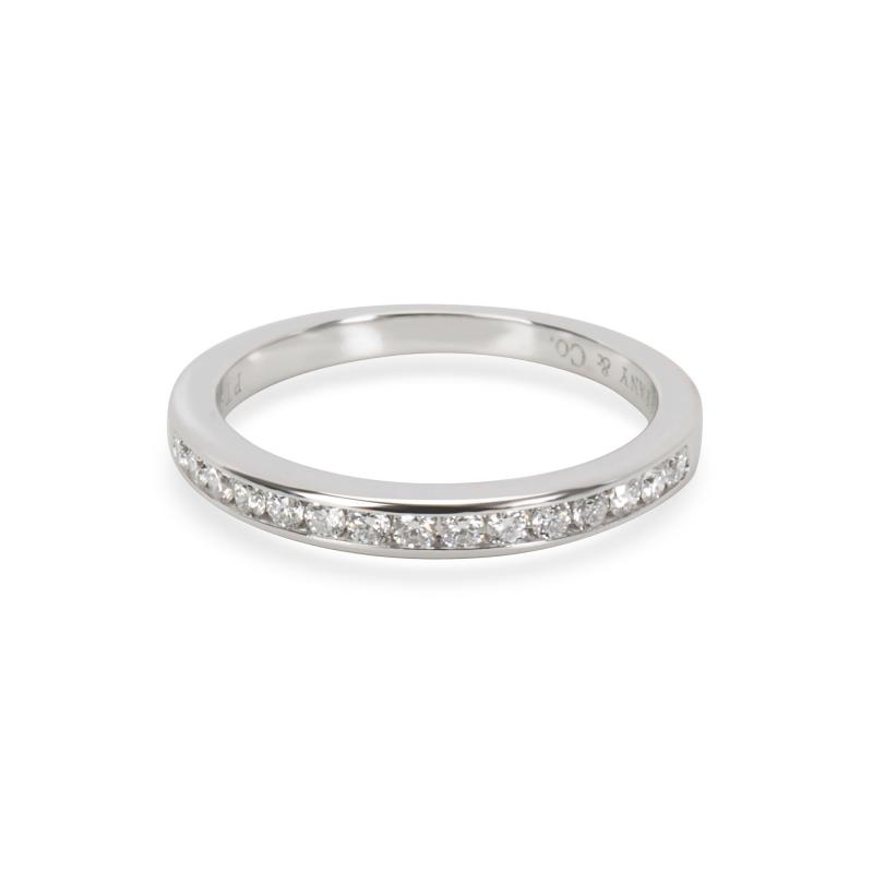 Tiffany Co Classic Channel Diamond Band in Platinum 0 23CTW