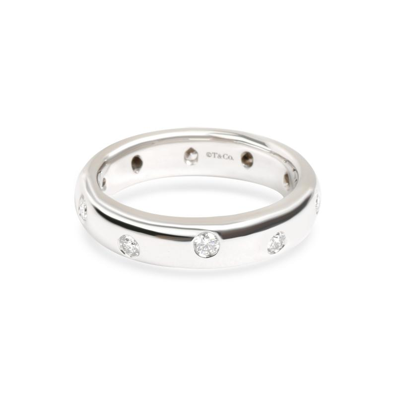 Tiffany Co Etoile Diamond Band in Platinum 0 25 CTW