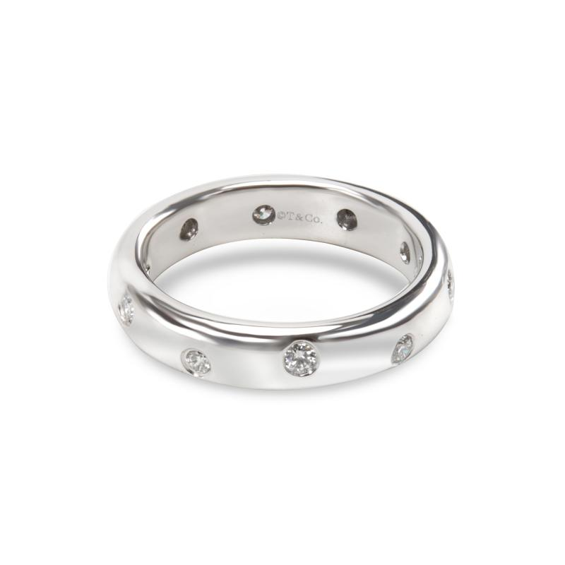Tiffany Co Etoile Diamond Fashion Ring in Platinum 0 14 CTW
