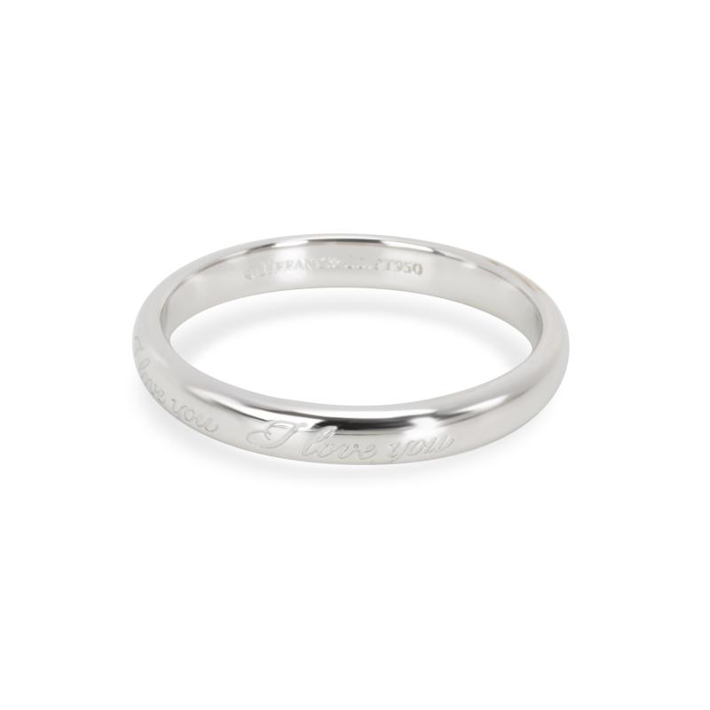 Tiffany Co I Love You Ring in Platinum