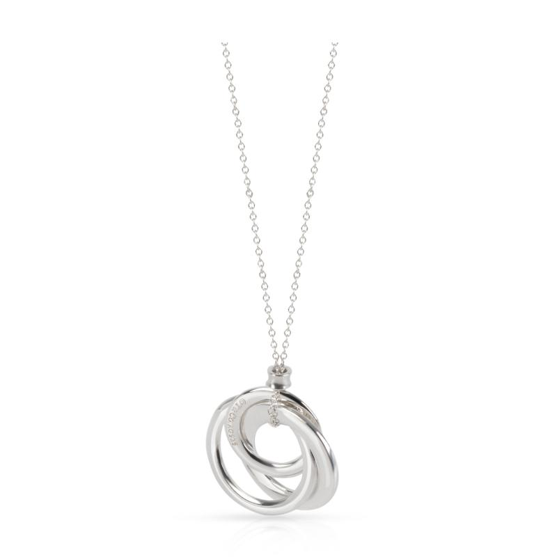 Tiffany Co Tiffany 1837 Interlocking Circles Necklace in Sterling Silver