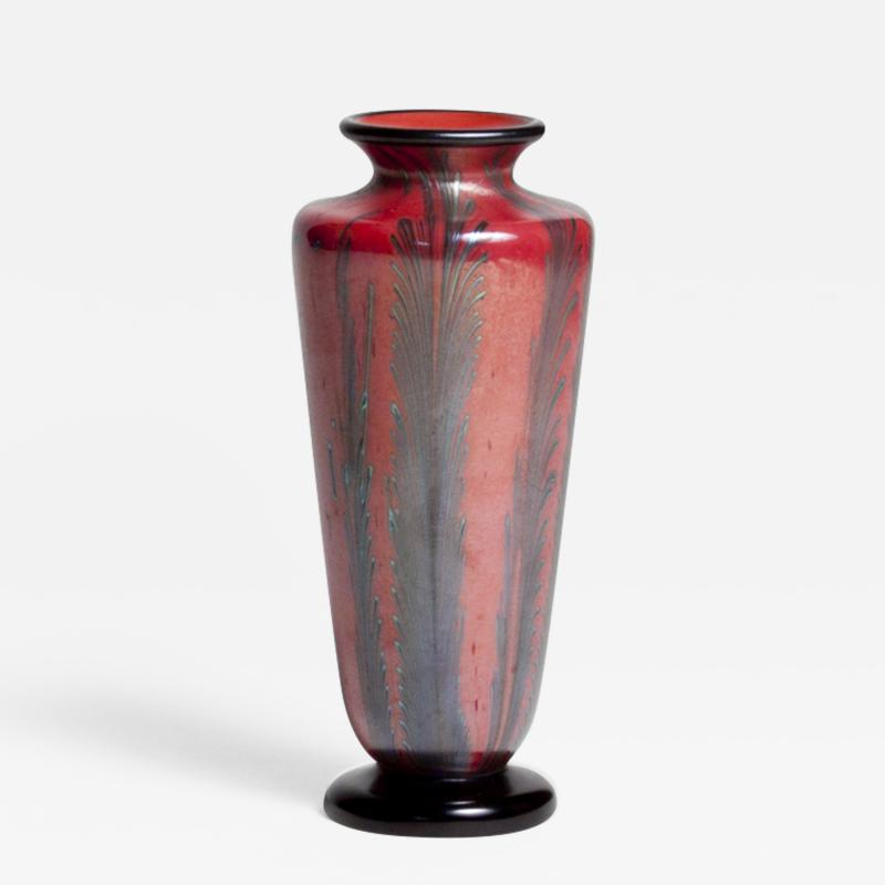 Tiffany Studios Footed Tiffany Favrile Glass Vase