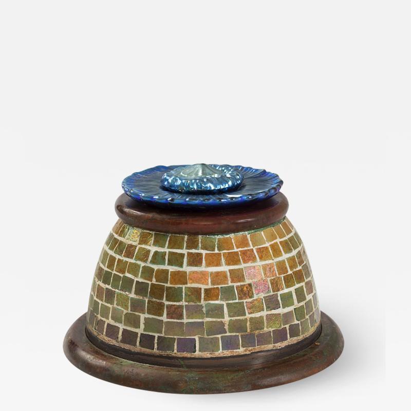 Tiffany Studios Mosaic Inkwell by Tiffany Studios New York