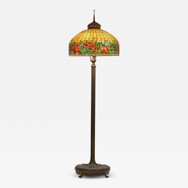 Tiffany Studios Peony Border Senior Floor Lamp
