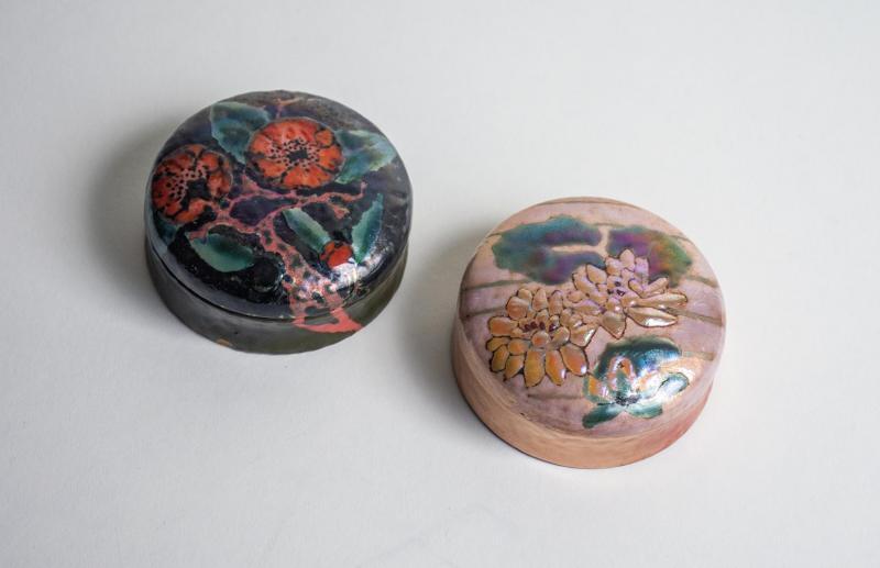 Tiffany Studios Rare Enamel Box with Water Lily Decoration