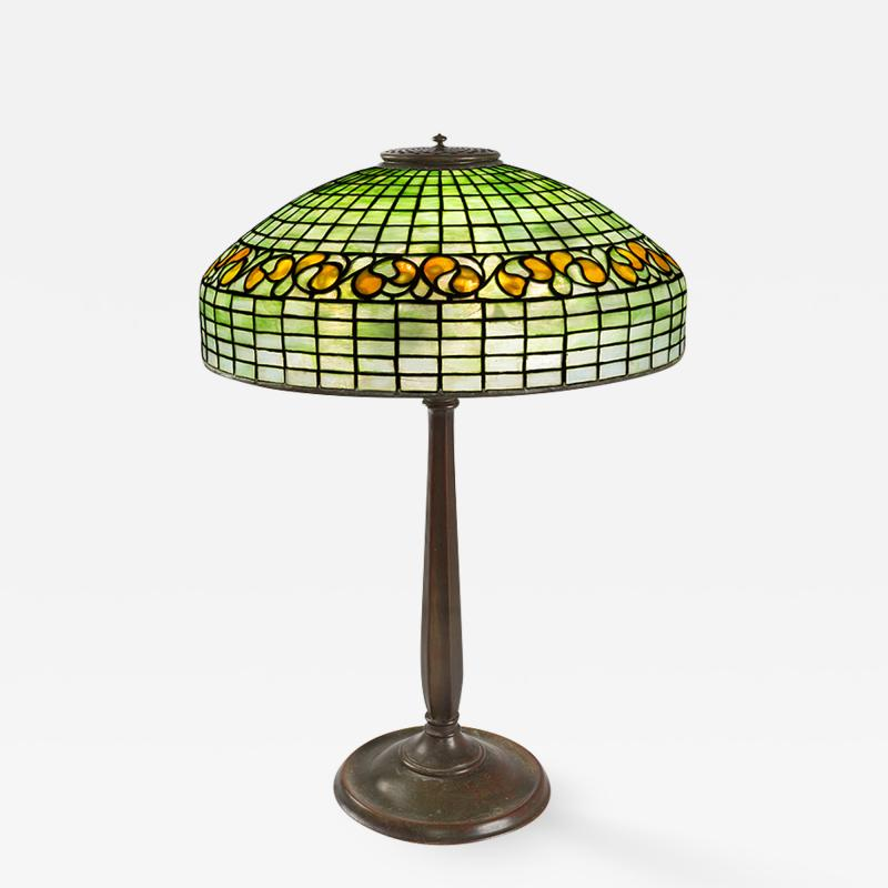 Tiffany Studios Swirling Lemon Leaf Tiffany Lamp