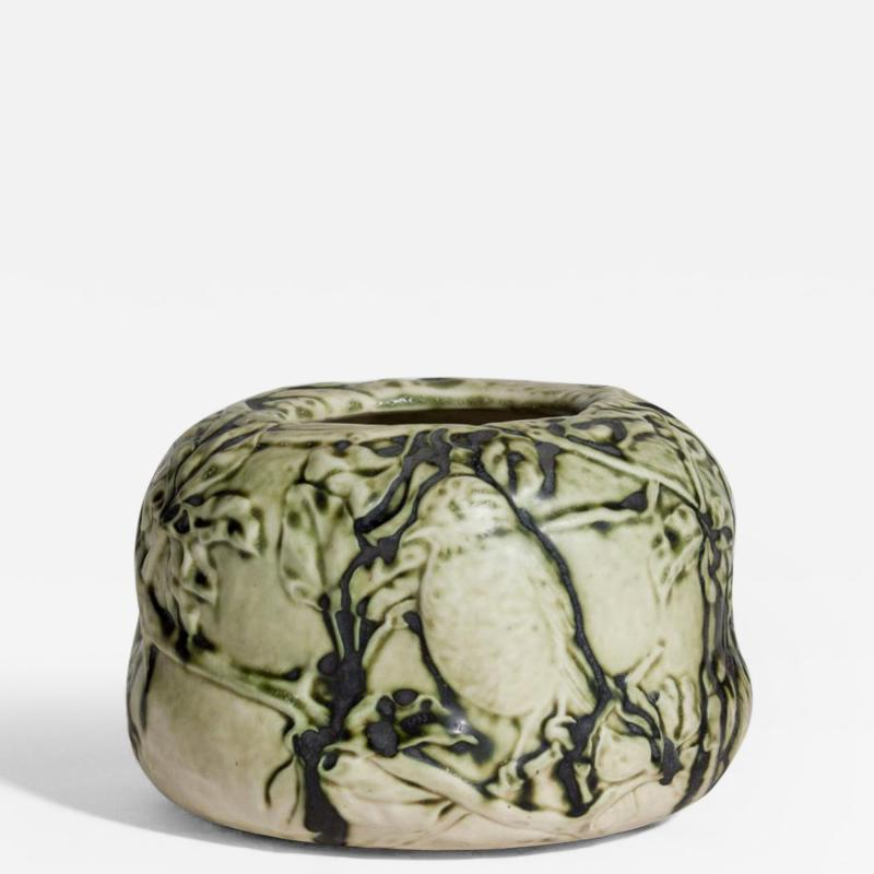 Tiffany Studios Tiffany Favrile Pottery Bowl with Songbirds