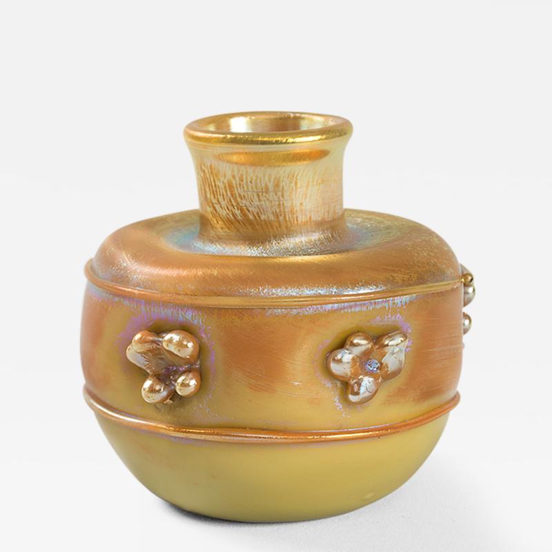 Tiffany Studios Tiffany Studios New York Art Nouveau Favrile Glass Vase